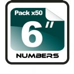 "6"" Race Numbers - 50 pack"